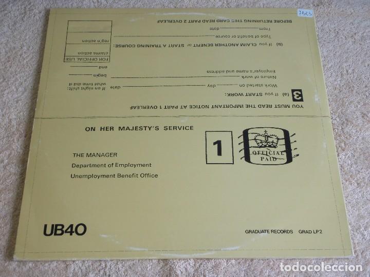Discos de vinilo: UB40 ( SIGNING OFF ) LP33+MAXI45 1980-SWEDEN GRADUATE RECORDS - Foto 2 - 111316859
