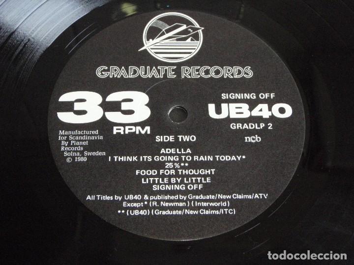Discos de vinilo: UB40 ( SIGNING OFF ) LP33+MAXI45 1980-SWEDEN GRADUATE RECORDS - Foto 6 - 111316859