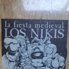 Discos de vinilo: LOS NIKIS-LA FIESTA MEDIEVAL/SINGLE PROMO 1989/POP PUNK SPAIN/NM (MOVIDA ESPAÑOLA-NEW WAVE-PUNK). Lote 111326031