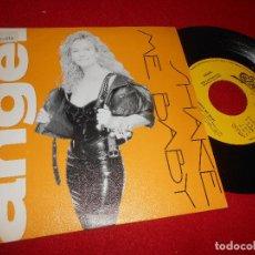Discos de vinilo: ANGEL SHAKE ME BABY 7'' SINGLE 1989 EPIC PROMO UNA CARA. Lote 111336347