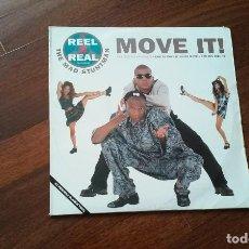 Discos de vinilo: REEL 2 REAL FEATURING THE MAD STUNTMAN-MOVE IT! DOBLE LP ITALIA. Lote 111340823