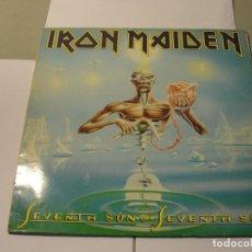 Discos de vinilo: LOTE LP IRON MAIDEN SEVENTH SON OF A SEVENTH SON SELLO EMI 1988...SALIDA 1 EURO. Lote 111358067