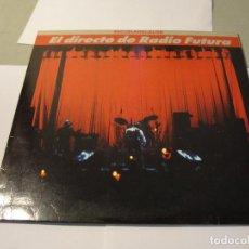 Discos de vinilo: LOTE LP DOBLE RADIO FUTURA ESCUELA DE CALOR DIRECTO SELLO ARIOLA 1989...SALIDA 1 EURO. Lote 111368087