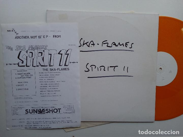 Discos de vinilo: SKA FLAMES- SPIRIT 11 - UK EP MAXI 1991+ INSERT- PROMO-WHITE LABEL-ORANGE VINYL-JAPANESE SKA. - Foto 1 - 111418531