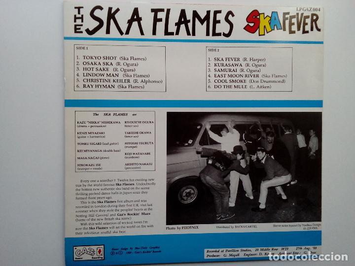 Discos de vinilo: SKA FLAMES- SKA FEVER - UK LP 1989 -JAPANESE SKA- VINILO COMO NUEVO. - Foto 2 - 111418795