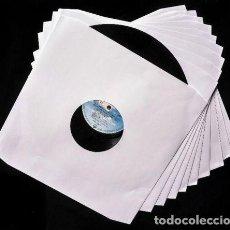 Discos de vinilo: 100 FUNDAS INTERNAS DE PAPEL PARA DISCOS DE VINILO LP - ESQUINAS TROQUELADAS -. Lote 153793974
