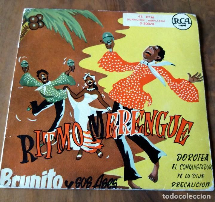 SINGLE - DISCOS - RITMO MERENGUE - BRUNITO Y SUS ASES (Música - Discos de Vinilo - Maxi Singles - Grupos y Solistas de latinoamérica)
