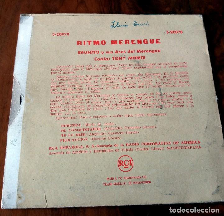 Discos de vinilo: SINGLE - DISCOS - RITMO MERENGUE - BRUNITO Y SUS ASES - Foto 2 - 111433875
