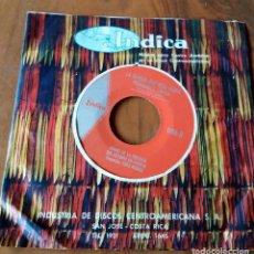 Discos de vinilo: SINGLE - DISCOS - INDICA - MÚSICA PARA CENTRO AMÉRICA - COSTA RICA. Lote 111434139