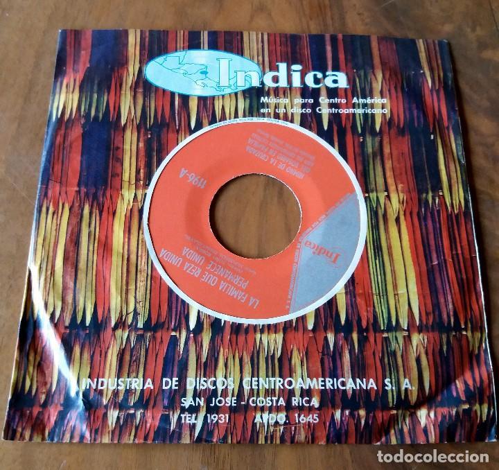 Discos de vinilo: SINGLE - DISCOS - INDICA - MÚSICA PARA CENTRO AMÉRICA - COSTA RICA - Foto 2 - 111434139