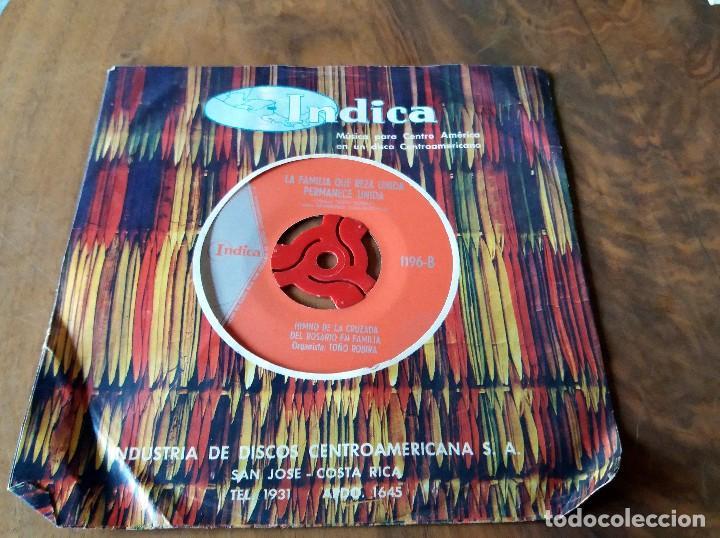 SINGLE - DISCOS - INDICA - MÚSICA PARA CENTRO AMÉRICA - COSTA RICA (Música - Discos de Vinilo - Maxi Singles - Grupos y Solistas de latinoamérica)