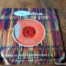 Discos de vinilo: SINGLE - DISCOS - INDICA - MÚSICA PARA CENTRO AMÉRICA - COSTA RICA. Lote 111434267