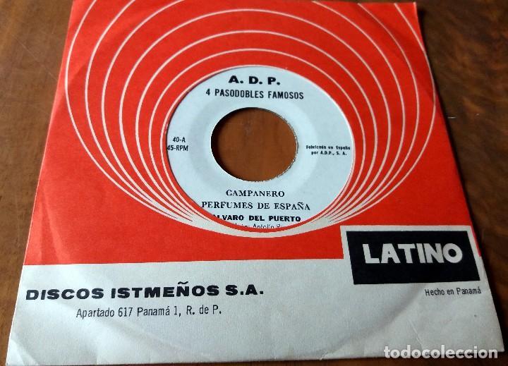 SINGLE - DISCOS ISTMEÑOS - 4 PASODOBLES FAMOSOS - LATINO (Música - Discos de Vinilo - Maxi Singles - Grupos y Solistas de latinoamérica)