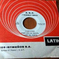 Discos de vinilo: SINGLE - DISCOS ISTMEÑOS - 4 PASODOBLES FAMOSOS - LATINO . Lote 111434435