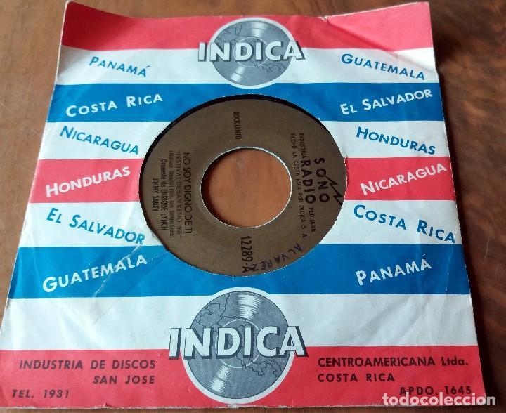 SINGLE - DISCOS - INDICA - COSTA RICA - SONO RADIO * ESPERA A MAÑANA Y NO SOY DIGNO DE TI (Música - Discos de Vinilo - Maxi Singles - Grupos y Solistas de latinoamérica)