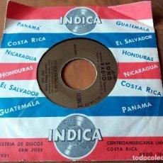 Discos de vinilo: SINGLE - DISCOS - INDICA - COSTA RICA - SONO RADIO * ESPERA A MAÑANA Y NO SOY DIGNO DE TI. Lote 111434943