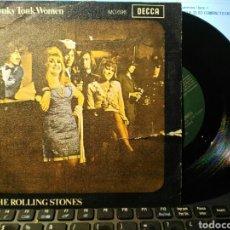 Discos de vinilo: DISCO VINILO THE ROLLINGS STONES HONKY TONK WOMEN SINGLE. Lote 111443260