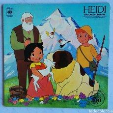 Discos de vinilo: HEIDI HISTORIA COMPLETA CON LAS VOCES CANCIONES Y DIBUJOS DE LA SERIE ORIGINAL. Lote 111457840