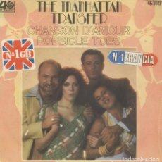 Discos de vinilo: THE MANHATTAN TRANSFER_CHANSON D'AMOUR_VINILO SINGLE 7'' EDICION ESPAÑOLA_1977 COMO NUEVO!!. Lote 111468859