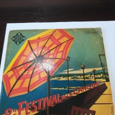 Disques de vinyle: 8º FESTIVAL DE LA CANCION SAN REMO 1958: NEL BLU DIPINTO DI BLU ( DOMENICO MODUGNO) Y OTROS. Lote 111486847