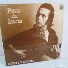 Discos de vinilo: PACO DE LUCIA. FUENTE Y CAUDAL. LP VINILO. EDITADO FONOGRAM 1974. VER FOTOGRAFIAS ADJUNTAS. Lote 111494535