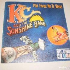 Discos de vinilo: SINGLE KC AND THE SUNSHINE BAND. PLEASE DON'T GO. EPIC1979 SPAIN. PROBADO Y BIEN. Lote 111506103