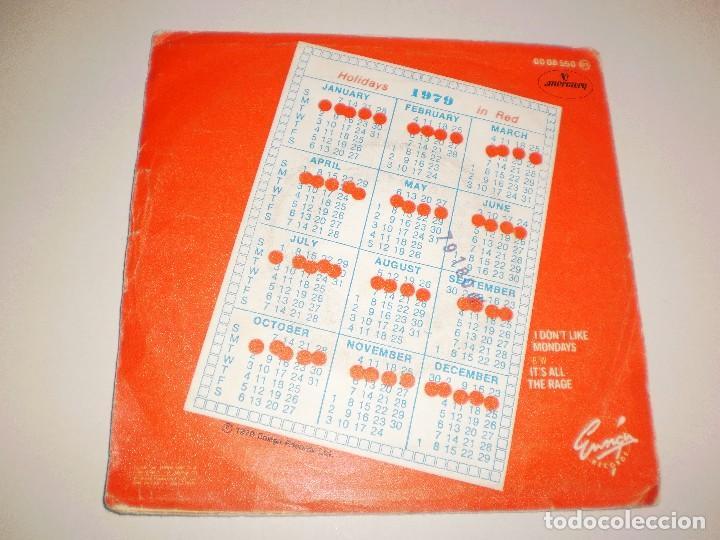 Discos de vinilo: single The Boomtown Rats. I dont like mondays. Mercury 1979 Spain. probado y bien - Foto 2 - 111507883