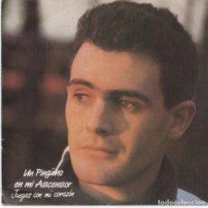 Discos de vinilo: UN PINGÜINO EN MI ASCENSOR_JUEGAS CON MI CORAZON,RAREZA_VINILO SINGLE 7''PROMO_1987 NUEVO!!. Lote 111516155