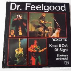 Discos de vinilo: DR. FEELGOOD - ROXETTE / KEEP IT OUT OF SIGHT. Lote 111522083