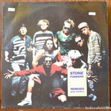 Discos de vinilo: STONEFUNKERS - BASS RACE REMIXES (WEA RECORDS,1990). Lote 111528219