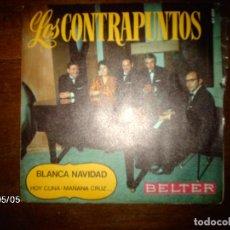 Discos de vinilo: LOS CONTRAPUNTOS (KONTRAPUNTOAK) - BLANCA NAVIDAD (EGUBERRI ZURIA) . Lote 111539151