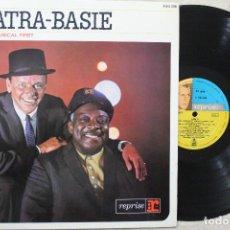 Discos de vinilo: SINATRA-BASIE AN HISTORIC MUSICAL FIRST LP VINYL MADE IN SPAIN 1961. Lote 111555015