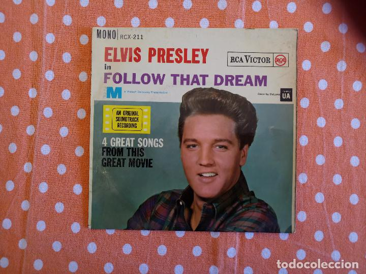 ELVIS PRESLEY - FOLLOW THAT DREAM - EP, UK, 1962 - MONO - RCX-211 (Música - Discos de Vinilo - EPs - Rock & Roll)