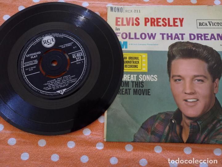 Discos de vinilo: ELVIS PRESLEY - FOLLOW THAT DREAM - EP, UK, 1962 - MONO - RCX-211 - Foto 2 - 111573131