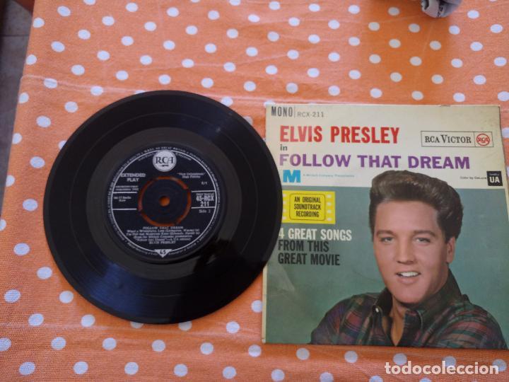 Discos de vinilo: ELVIS PRESLEY - FOLLOW THAT DREAM - EP, UK, 1962 - MONO - RCX-211 - Foto 3 - 111573131