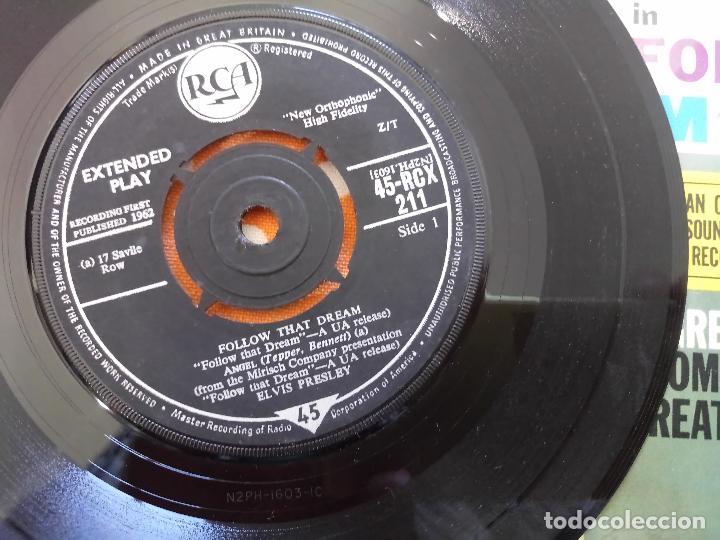 Discos de vinilo: ELVIS PRESLEY - FOLLOW THAT DREAM - EP, UK, 1962 - MONO - RCX-211 - Foto 5 - 111573131