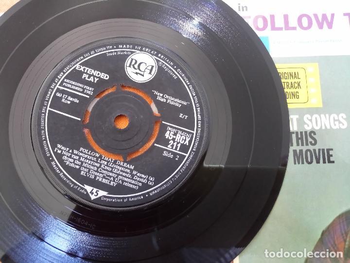 Discos de vinilo: ELVIS PRESLEY - FOLLOW THAT DREAM - EP, UK, 1962 - MONO - RCX-211 - Foto 6 - 111573131