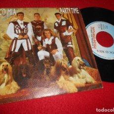 Dischi in vinile: LOCOMIA LOCO MIA PARTY TIME 7'' SINGLE 1993 HISPAVOX PROMO DOBLE CARA. Lote 111575371