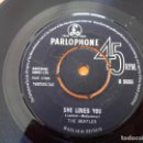 Discos de vinilo: THE BEATLES - SHE LOVES YOU - SINGLE PARLOPHONE, UK, 1963 - MONO - R5055. Lote 111579607