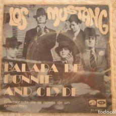 Discos de vinilo: LOS MUSTANG – BALADA DE BONNIE AND CLYDE - LA VOZ DE SU AMO 1968 - SINGLE - P. Lote 111583099