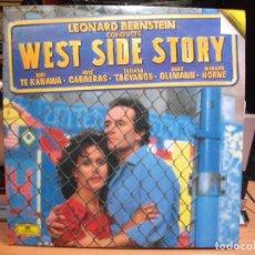 Discos de vinilo: WEST SIDE STORY, LEONARD BERNSTEIN, EDICION DE 1985 DE ESPAÑA, DOBLE. Lote 111610135