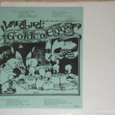 Discos de vinilo: THE YARDBIRDS –GOLDEN EGGS-LP, UNOFFICIAL RELEASE -1973-VERY RARE!!!-PARA COLECCIONISTAS. Lote 111629779