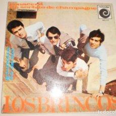 Discos de vinilo: SINGLE LOS BRINCOS. RENACERÁ. UN SORBITO DE CHAMPAGNE. NOVOLA 1966 SPAIN DISCO PROBADO Y BIEN. Lote 111637891