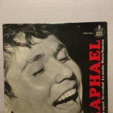 Discos de vinilo: SINGLE DE RAPHAEL 1965. Lote 111641047