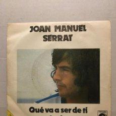 Discos de vinilo: SINGLE DE JOAN MANUEL SERRAT AÑOS 60. Lote 111641339