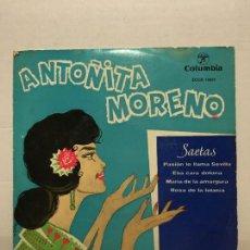 Discos de vinilo: SINGLE DE ANTOÑITA MORENO AÑOS 60. Lote 111642199