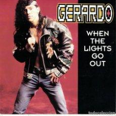 Disques de vinyle: GERARDO - WHEN THE LIGHTS GO OUT / LP VERSION (SINGLE ALEMAN, INTERSCOPE RECORDS 1991). Lote 111676691