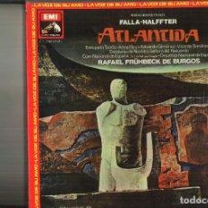 Discos de vinilo: ATLANTIDA. FALLA-HALFFTER. Lote 111678339