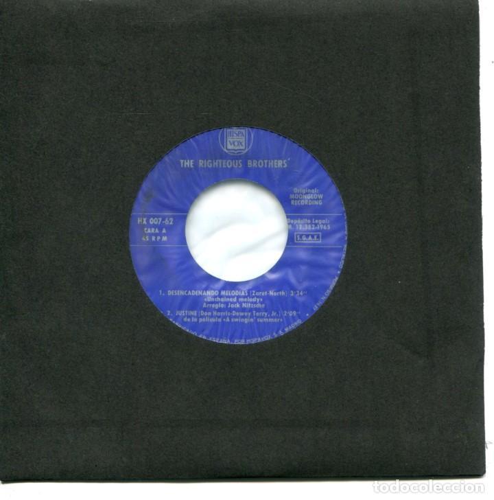 THE RIGHTEOUS BROTHERS / DESENCADENANDO MELODIAS / JUSTINE + 2 (EP 1965) (Música - Discos de Vinilo - EPs - Pop - Rock Extranjero de los 50 y 60)