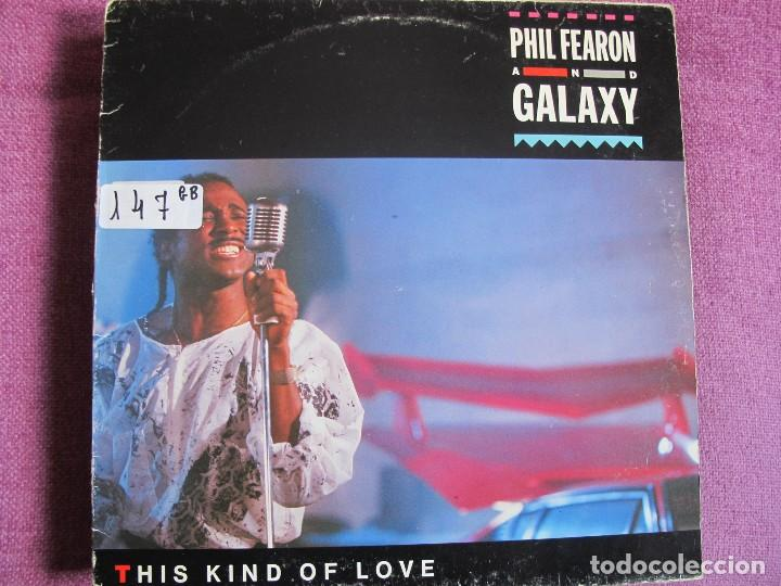 LP - PHIL FEARON AND GALAXY - THIS KIND OF LOVE (SPAIN, ISLAND 1985) (Música - Discos - LP Vinilo - Funk, Soul y Black Music)